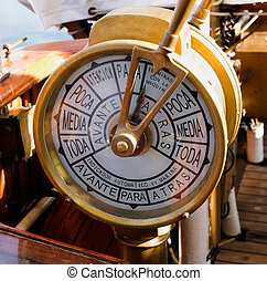 Ship telegraph of a spanish boat