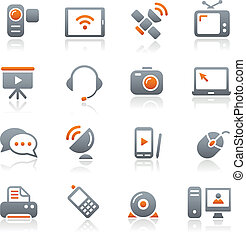 Communication Icons Graphite - Vector icons for your web or...