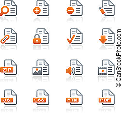 Documents Icons -1 GraphiteSeries - Vector icons for your...