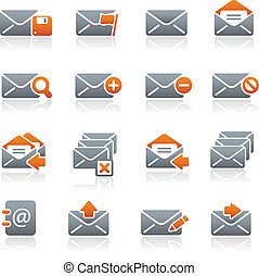E-mail Icons Graphite Series - Vector icons for your web or...