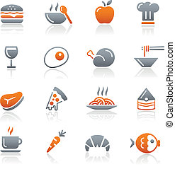 Food Icons - 1 // Graphite Series - Vector icons for your...