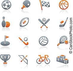 Sports Icons // Graphite Series - Vector icons for your web...
