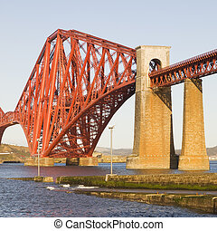 Forth Rail Bridge in square composition - Forth Rail Bridge,...