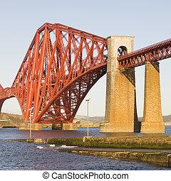 Forth Rail Bridge in square composition - Forth Rail Bridge,...