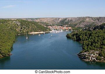 National Park Krka, river Krka, Skradin, Croatia
