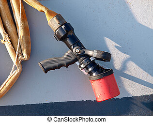 Pressure hose detail in
