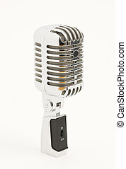 Classic microphone on white