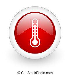 thermomètre, rouges, Cercle, lustré, toile,...