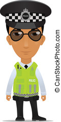 traffic police officer - Cartoon police officer