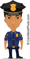 police officer - Cartoon police officer