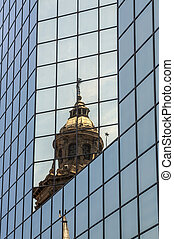 Reflection: Old & New - The Metropolitain Cathedral...