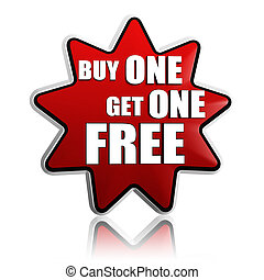 buy one get one free red star banner - buy one get one free...