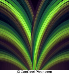 green lines fountain - abstract background green rainbow...