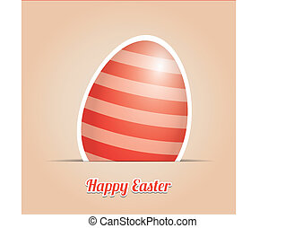 red striped easter egg