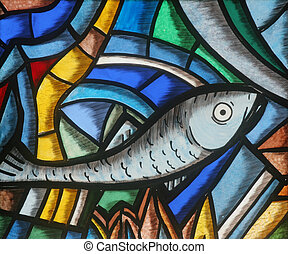 Fish - Icthus, Christian symbol - Fish - Icthus, ancient...