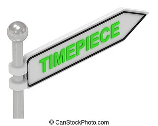 TIMEPIECE word on arrow pointer