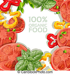 Delicious and fresh vegetables - Background for your text...