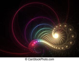 Rainbow Fractal - A unique fractal background texture that...