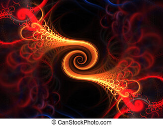 Fractal Spiral - A spiraling fractal design that works great...