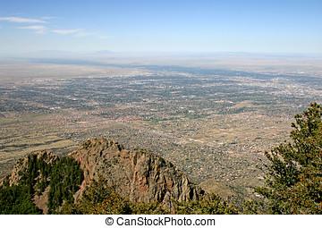 Albuquerque, New Mexico - Aerial view of Albuquerque, New...