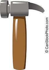 Hammer - a hand holding a hammer