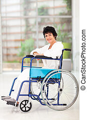 disabled middle aged woman wheelchair