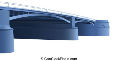bright blue bridge vector