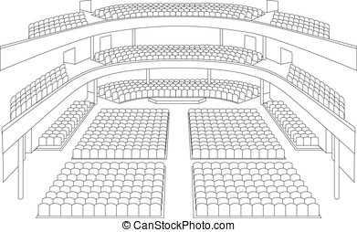interior of theater hall plan vector