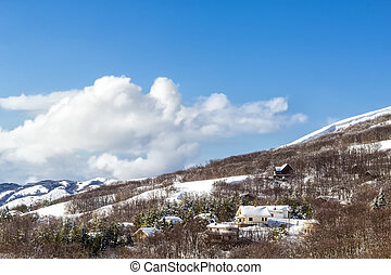 Winter landscape - A winter landscape in the Madonie...