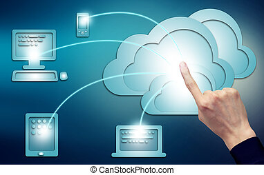 Cloud Computing Concept - Cloud computing, technology...