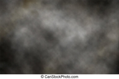 Dark smoke background - Editable vector illustration of...