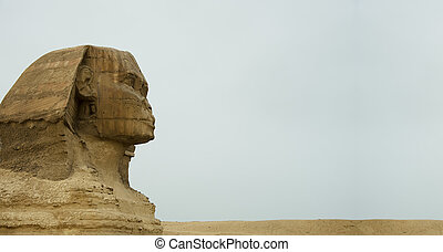 ancient Great Sphinx of Giza,Egypt