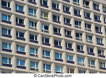 Facade of a residential building in