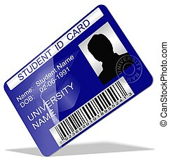 Student ID card - 3d illustration of a student ID card