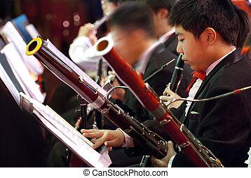 bassoon boy in concert