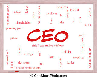 CEO Word Cloud Concept on a Dry Erase Board