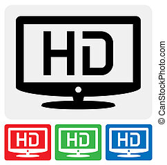 HDTV icon - high definition television symbol