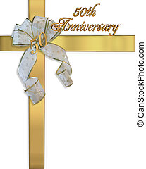 50th Anniversary Golden Invitation - Image and illustration...