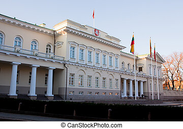 Presidential Palace - The Presidential Palace in Vilnius,...
