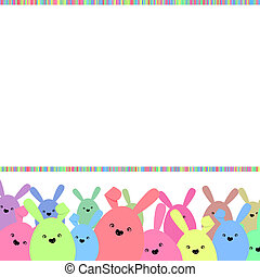 Colorful easter card with copy space. EPS 8