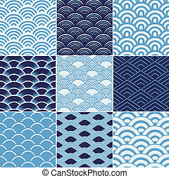 seamless ocean wave texture pattern