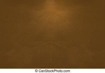 Holy Spirit - Holy spirit with abstract brown heaven and sun...