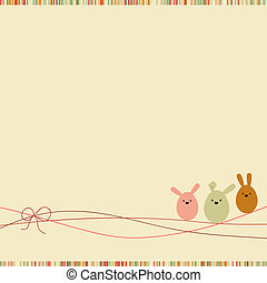 Easter card with copy space. EPS 8 - Easter card with copy...