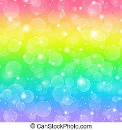 Rainbow holiday background