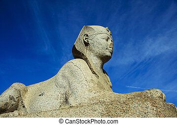 sphinx of Pompeys Pillar area in Alexandria