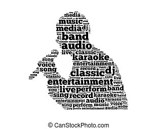 entertainment classic live performance text collage Composed...