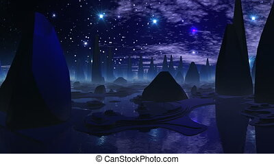 The city of aliens and UFO the cros