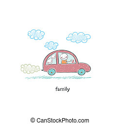 Family car. Illustration.
