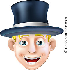 Man in top hat cartoon