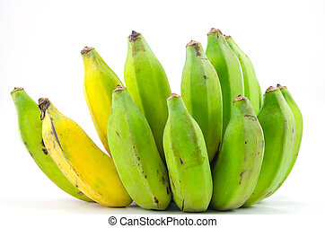 banana on white backgrounds